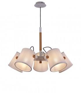 Lámpara de Techo Blanca NÓRDICA 5L 5460 Mantra
