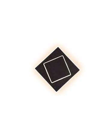 Aplique Dakla cuadrado 12W Negro 6427 Mantra