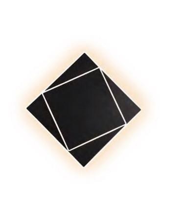 Aplique Dakla cuadrado 18W Negro 6428 Mantra