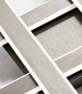Plafón YOGA gris titanio 48w - Schuller 371102