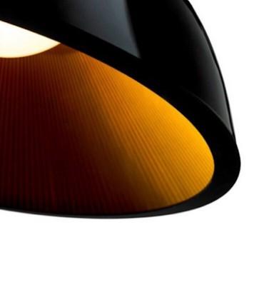 Lámpara Umbrella Ø60cm Negro-Oro Grok