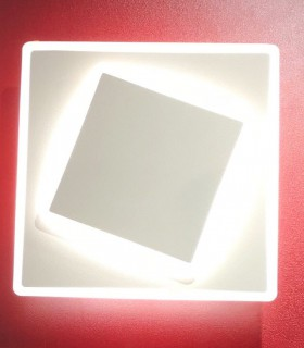 Aplique Dakla cuadrado 12W Blanco 6425 Mantra