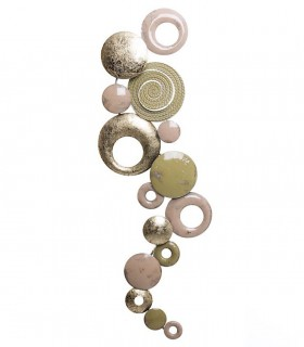 Adorno deco pared metal Multicolor 89x31cm