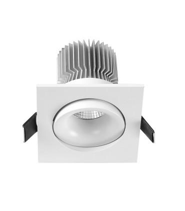 Foco Empotrable FORMENTERA LED CUADRADO 7W Blanco Basculante Mantra