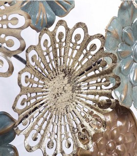 Detalle adorno decoración para pared metal 148x79cm