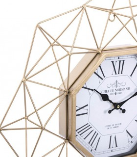 Reloj de pared Triángulos metal 60cm oro viejo