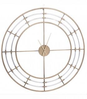 Reloj de pared Rueda 3 metal 110cm oro-plata viejo