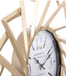 Reloj de pared Grand Hotel metal 60cm oro viejo