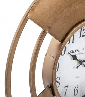 Reloj de pared Grand Hotel 2 metal 50cm oro viejo