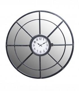 Reloj de pared con espejo Gris oscuro metal 80cm