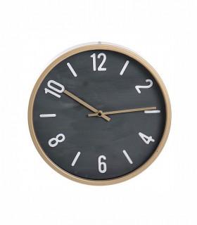 Reloj de pared 30cm oro viejo-gris oscuro