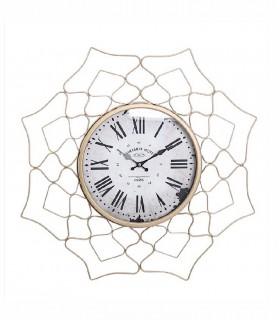 Reloj de pared Printania Hotel metal 60cm oro viejo