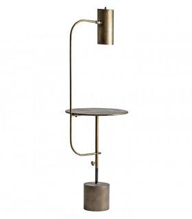 Lámpara de pie Lingen con mesa vintage