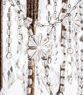 Detalle de colgantes de cristal