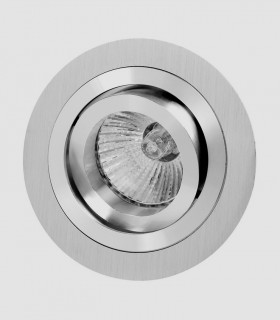 Aro Foco Empotrable Redondo Aluminio BASIC Orientable Mantra