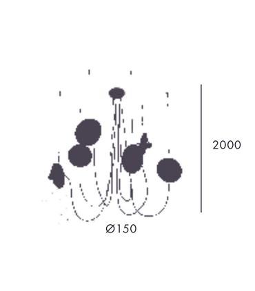 Dimensiones Lámpara FEST C1223 6 luces de Aromas
