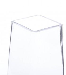 Detalle de florero de cristal transparente 30cm
