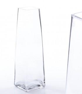 Florero de cristal transparente 30cm