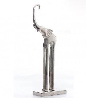 Figura suelo elefante alto 80cm níquel rugoso