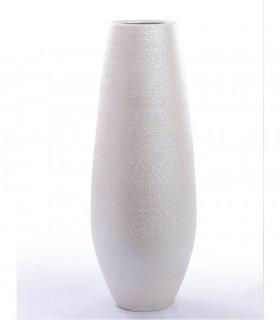 Jarrón de suelo cerámica perla 90cm