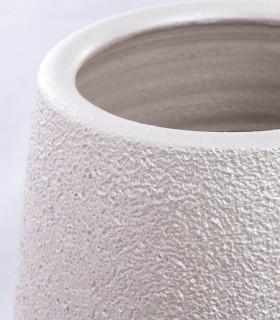 Detalle Jarrón de suelo cerámica perla 90cm