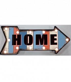 Adorno Home con leds flecha vintage