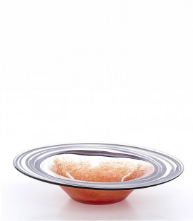 Centro de mesa de cristal redondo multicolor 40cm