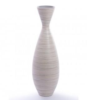 Jarrón de suelo cerámica alto 100cm crema