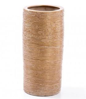 Paragüero-Jarrón de suelo 50cm dorado-blanco