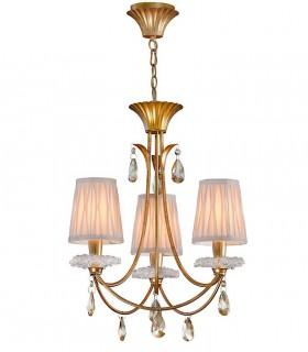 Lámpara de techo Sophie 3 luces oro viejo 6293