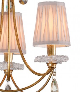 Detalle de pantalla Lámpara de techo Sophie 3 luces oro viej 6293