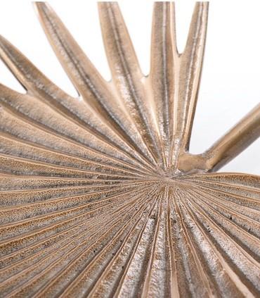 Centro hoja dorado 32x29x5cm