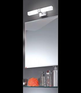 Aplique 2 luces níquel satinado 33cm