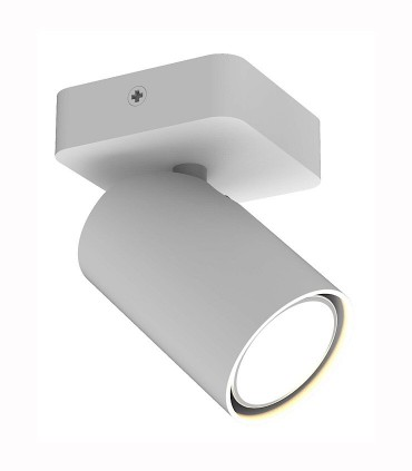 Foco SAL 1 luz Blanco GU10 6283 Mantra. Para techo o pared. Luz orientable de acentuación.