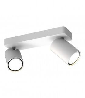 Regleta 2 focos SAL Blanco GU10 6282 Mantra. Iluminación puntual de acentuación.