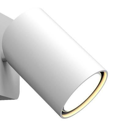 Detalle aplique orientable  SAL 6284 blanco.
