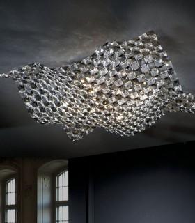 Plafón 5 luces SATEN grande 160674 - Schuller