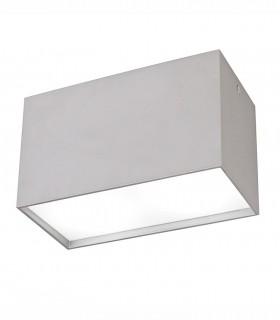 Plafón 2 luces Kailua gris plata GU10 rectangular 5630 Mantra
