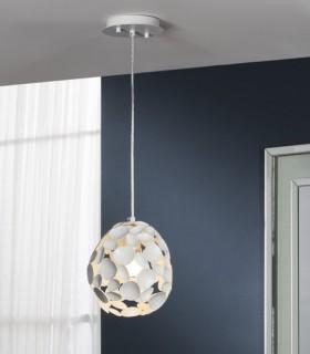 Lámpara 1 luz NARISA 18cm blanco - Schuller