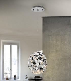 Lámpara 1 luz NARISA 18cm cromo - Schuller