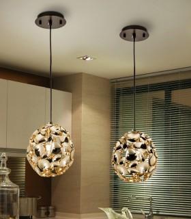 Lámpara 1 luz NARISA 18cm oro rosa - Schuller 266035N