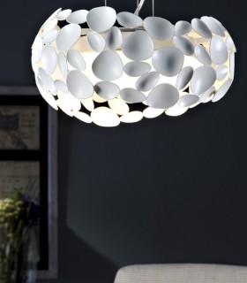 Lámpara 3 luces NARISA 32cm blanco - Schuller