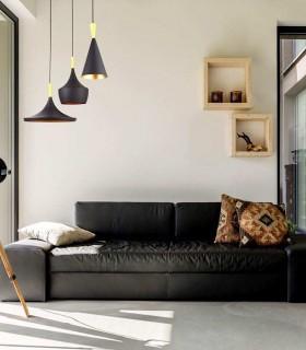 Lámpara colgante Eyra Negro de Jueric 10136