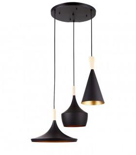 Lámpara colgante Eyra Negro de Jueric, 10136