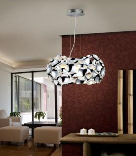 Lámpara 3 luces NARISA 32cm cromo - Schuller