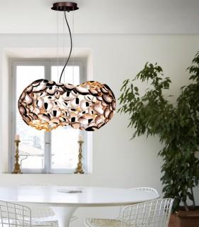 Lámpara 5 luces NARISA 47cm oro rosa - Schuller