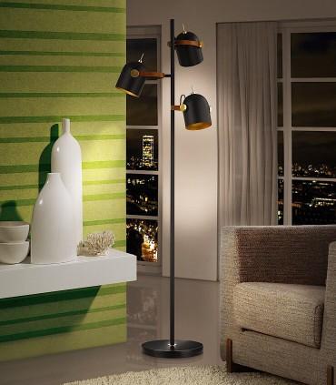 Lámpara de pie ADAME 3 luces - Schuller color negro 346230