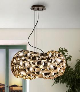 Lámpara 5 luces NARISA 47cm oro rosa - Schuller 266251