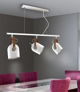 Lámpara nórdica ADAME 3 luces blanco de Schuller. 346766