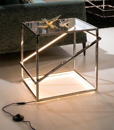 Mesita MOONLIGHT inox led - Schuller 685201